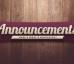 Announcements (Dec. 14)