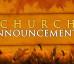 Announcements (Nov. 23)